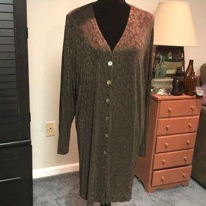 Mercer & Madison V neck button down dress